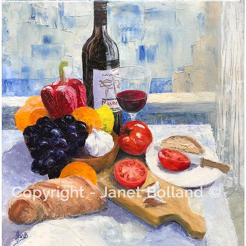 Still Life - Print on Canvas - Janet Bolland