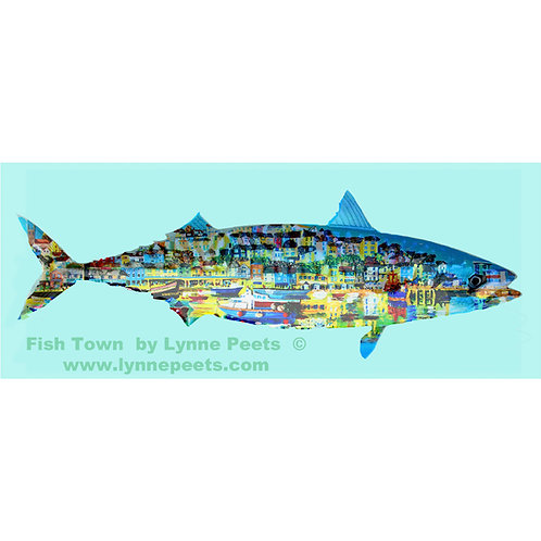 Brixham Fish Town - Lynne Peets Artist