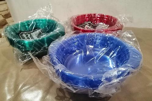 Тарелки стеклоподобные 10 шт цветные