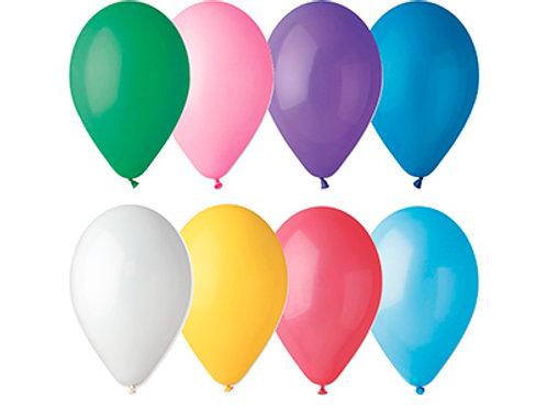 Латексные шары круглые без рисунка пастель ассорти 100 шт