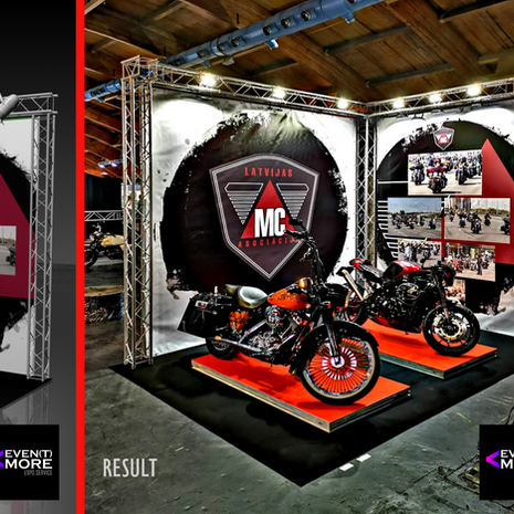 MOTORCYCLE ASSOCIATION stand design and production LITHUANIA 2019