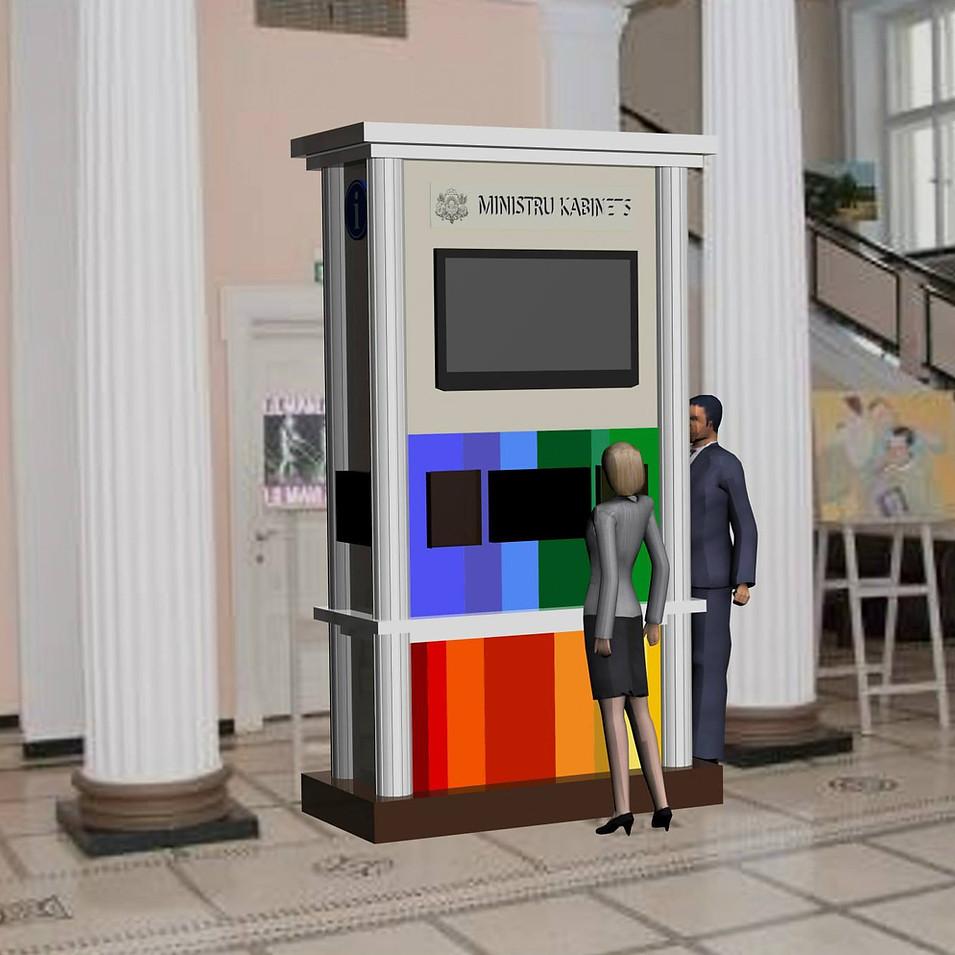 Ministru Kabineta interaktīva stenda skice, Latvija 201