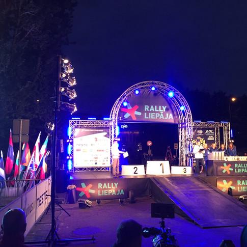 ERC rallija finiša arka, Latvija 2017