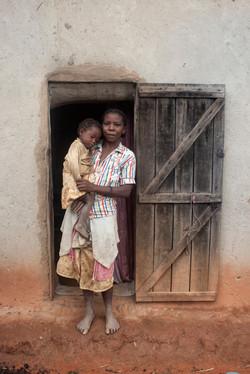 Mère et enfant endormi