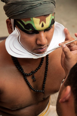 Preparation for Kathak