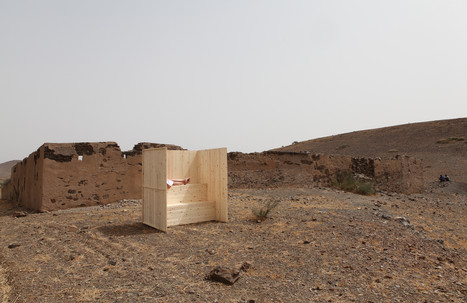 Outdoor sauna suitable for global warming / GETTING READY FOR DESERTIFICATION performance in the deep desert, Morocco 2014