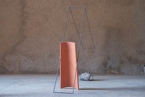Terra, Ferro, Pedra  (Soil, Iron, Stone)  mix media (tiles, steel, rocks, ceramics) 2020