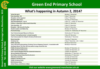 What's happening in Autumn 2