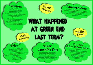 What happened at Green End over the Spring Term?