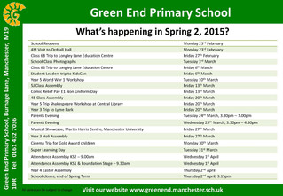 What's happening in Spring 2?