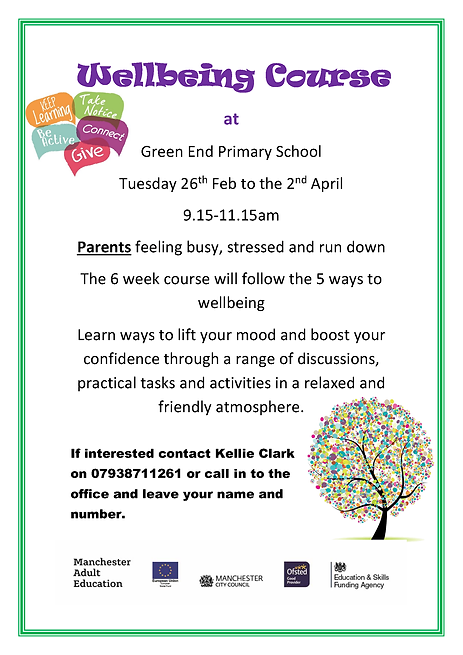 Wellbeing  Course info flyer green end 1