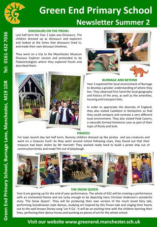 Summer 2 Newsletter