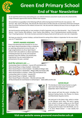 End of Term Newsletter