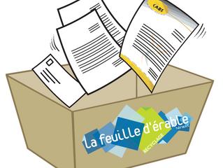 Nouveauté : le recyclage des papiers de bureau