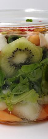 Salade melon poulet et kiwi