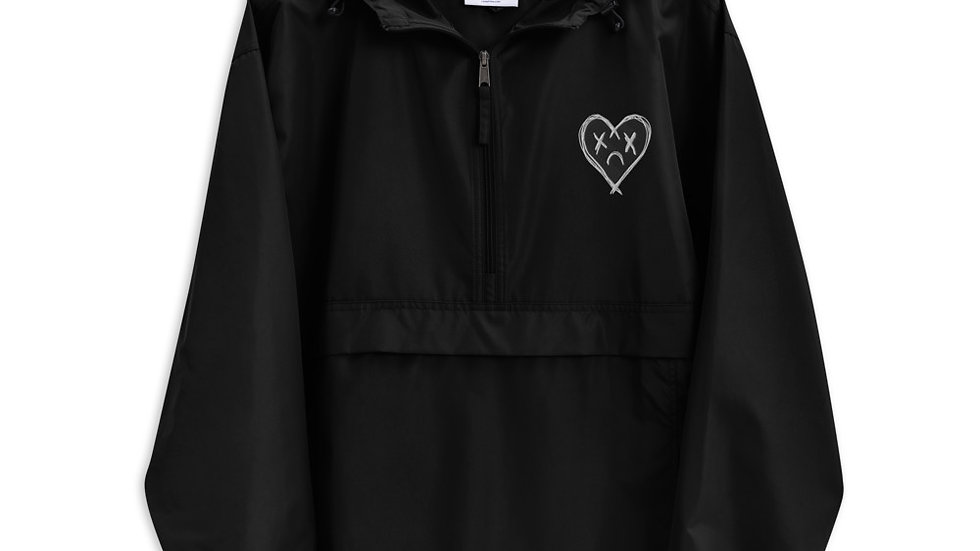 'Sad Heart' Embroidered Champion Packable Jacket