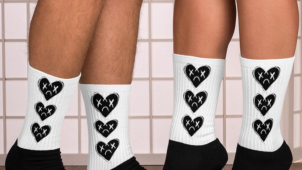 'YNA Heart' Socks