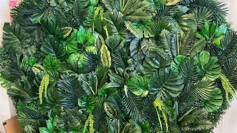Hexagonal Jungle Leaf Wall Rental