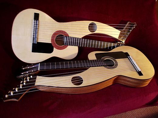Harp guitar Khaya & Spruce 2 | Gard | Sean Woolley Luthier Harp Guitar