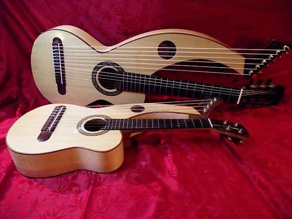 Harp ukulele & requinto | Gard | Sean Woolley Luthier Harp Guitar