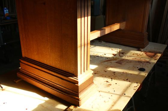 Quarter sawn white oak dining table