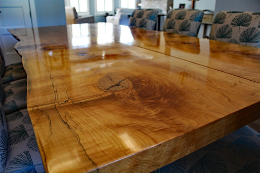 Spalted hard maple dining table