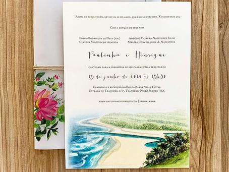 Convite de Casamento na Praia; confira os modelos atuais para te inspirar