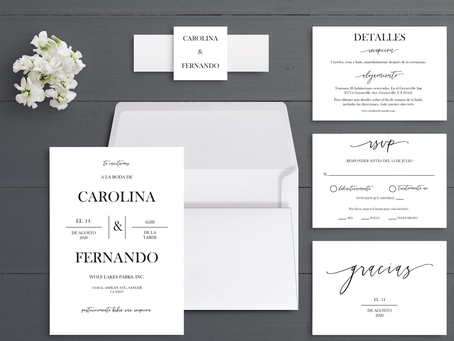 Classic Wedding Invitation; check out the current models to inspire you