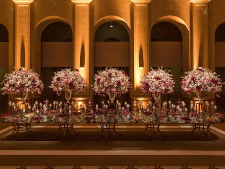 Decoração de Casamento Marsala na Sala São Paulo por Eventando