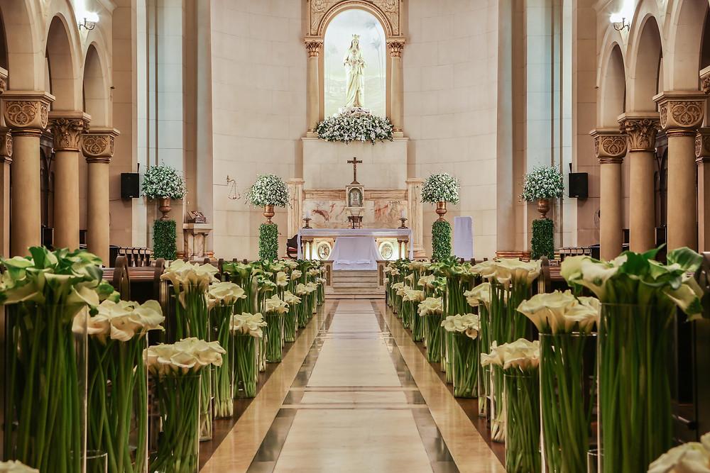 Casamento na Capela do Sion. Casamento no Iate Club de Santos