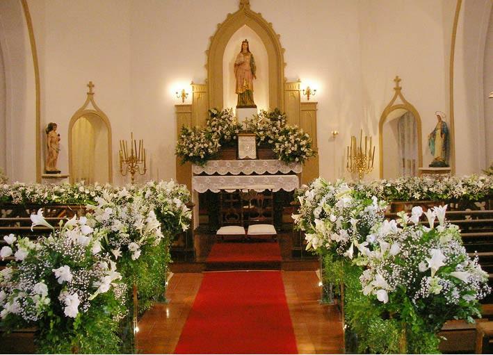 Área interna Igreja Santa Ignez
