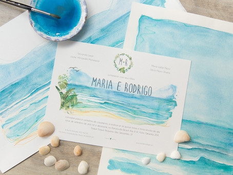 Beach Wedding Invitation; check out the current models to inspire you