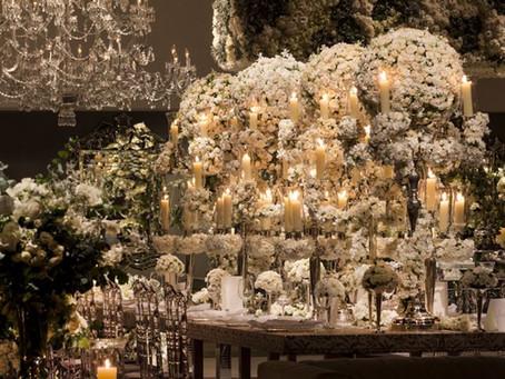 White and green wedding decoration by Nina Nassar