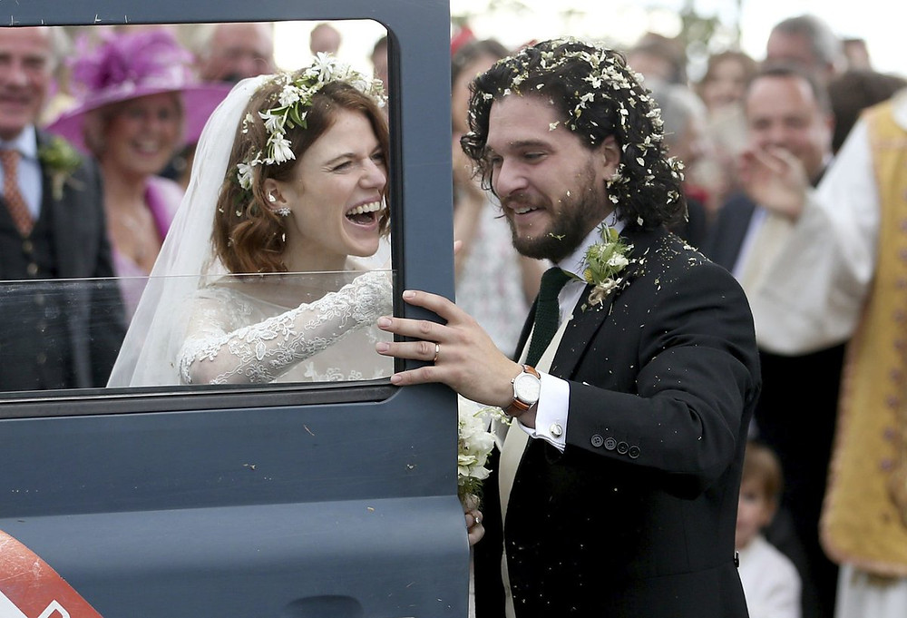 Casamento Famoso: Rose Leslie e Kit Harington de Game of Thrones
