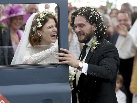 Casamento Famoso: Rose Leslie e Kit Harington de Game of Thrones