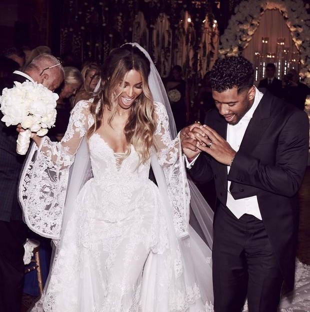 Casamento Famoso: Ciara e Russel Wilson