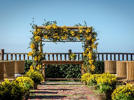Decoração de Casamento em Amarelo, Azul e Limão Siciliano por Carla Vidal