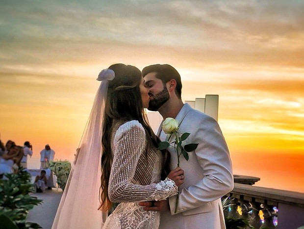 Casamento no Cristo Redentor: Alok e Romana Novais