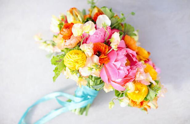 Bouquets de Noiva Coloridos