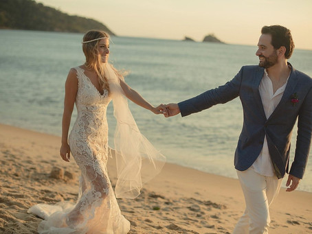 Beach Wedding: Ana Leticia and Luiz Augusto