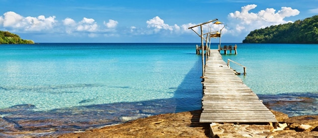 Lua de mel no Caribe