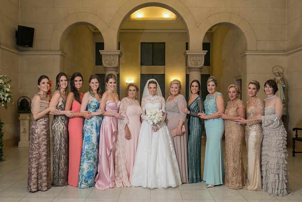 Madrinhas de Casamento, Casamento na Capela do Sion. Casamento no Iate Club de Santos