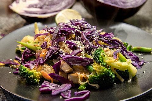 GF Asian Rice Noodle Stir Fry