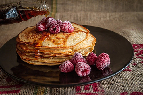 Oatmeal Pancakes & Berries