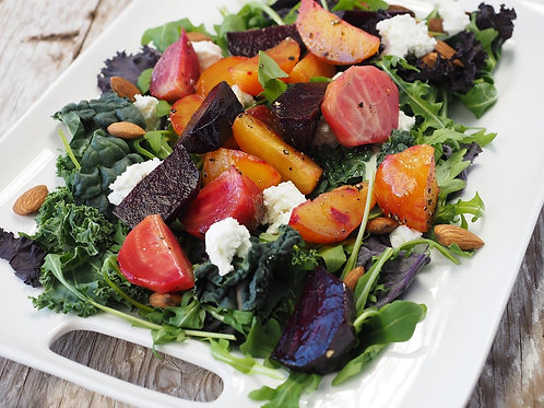 Fire Roasted Beet & Goat Cheese Salad