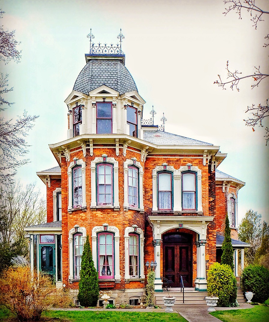 Strachan House. This stunning house was my favourite of the town. Beautiful Victorian Beauty with a bit of a mansard roof.