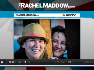 Rachel Maddow Show coverage of the reunion at the border fence,