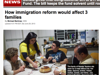 CNN: How Immigration Reform Would Affect Three Families