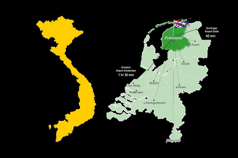 Vietnam to Northern Netherlands