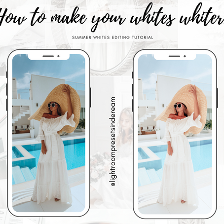 How to make your summer white pictures whiter?